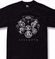 fanatiği engellemek toptan satış-V8 motor T-shirt büyük blok chevrolet hayranları turbo 427 454 572 tshirt + hoodie
