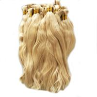 Wholesale Human Hair For Braids - Natural Wave 100% Virgin Human Hair Bulk Straight Hair Bulk for Braiding Cabelo Humano Natural Virgin Remy Blonde Color 613Loose Hair