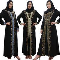 nouvelle robe classique design achat en gros de-2019 nouveau design classique caftan burqa design de mode dubaï abaya robe musulmane