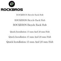 a60403448 ROCKBROS Bisiklet Raf Emme Roof-Top Bisiklet Araba Rafları Taşıyıcı Hızlı  Kurulum Için 15mm 20mm Hub Adaptörleri Tutuşunu Aks ..