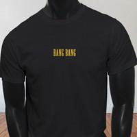 pistola de sexo masculino al por mayor-Bang Bang Sex Guns Pistola Kill Bill Película Gore Hombre Camiseta negra Camiseta Hombre Hombre Mejor diseño Manga corta personalizada Camiseta de talla grande para hombre