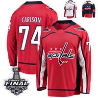 Wholesale capital names - 2018 Stanley Cup Final Washington Capitals Stadium Series John Carlson Hockey Jerseys 74 John Carlson Stitched Jersey Custom Name Jersey