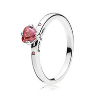 30 Silver Ring For Women You Me Lovers Girl Finger Red CZ Birthday Gift Wedding Party Fit Lady Jewelry