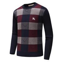 pulôver de lã dos homens venda por atacado-Novos Homens Pullover Blusas de Outono E Inverno Malhas Casuais Masculino Pulôveres Clássicos Suéteres de Lã Camisola Dos Homens