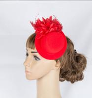 mini çiçekler saç tokaları toptan satış-Perakende zarif bayan kızlar Fascinator parti kokteyl giyinmek ile saç tokası mini üst şapka çiçek tasarım DIY aksesuarları MYQ071