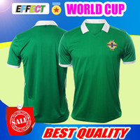 Wholesale Ireland Soccer Jersey - Top thailand Northern Ireland soccer jerseys 2018 World Cup home green DEL NORTE Tuaisceart Eireann McNAIR K.LAFFERTY DAVIS football shirts