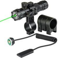 raylı kırmızı nokta lazer toptan satış-20mm Airsoft Hassas Taktik Lazer Dağı Yeşil Kırmızı Nokta Lazer Sight Tüfek Avcılık Gun Kapsam Ray Varil Basınç Anahtarı Dağı