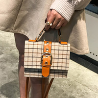корейский стиль кожи женщин сумки оптовых-Messenger Bags For Women 2018 Ladies Korean Style Plaid Wool Leather High Quality Belt Mini Shoulder Bag Elegant Handbag W457