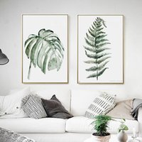 Wholesale painted decorative panels for sale - 2018 plant pattern decorative paintings framed cm wall pantings for living room dining room decoration wall paintings