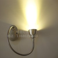 Wholesale ac hoses online - NEW W led spotlights Wall Mounted hose backdrop painting elbow snake tube book light clothing front mirror bedside lamp SD114