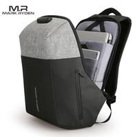 Wholesale Custom Laptops - Markryden New Anti thief Design USB Recharging Laptop Backpack TSA Customs Lock Design Backpack Men Fashion Travel Backpack