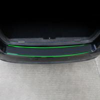 Wholesale carbon fiber cruze chevrolet - Color My Life Rubber Rear Guard Bumper Protector Trim Cover Accessories Sticker For Chevrolet Cruze Trax Captiva Aveo Malibu