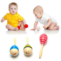 Wholesale baby rattles hammer for sale - Group buy Baby Rattle Baby Toys Wooden Kids Child Sand Hammer Early Education Toy Musical Instrument Percussion Toy Brand Gifts