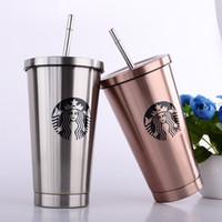 ingrosso nuovo disegno della tazza-10 tipi di nuovo design Starbucks in acciaio inox tazza di aspirazione tazza dea tazza di caffè creativo