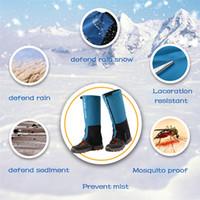 ingrosso le ghette coprono i piedi-1pair Snow Leg Ghette Copre Escursionismo Campeggio Alpinismo Gamba Ghette Leggings Piede Set Proteggi Gambe Inverno Zar Bomb 4A