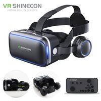 Wholesale Original Shinecon Pro VR Headset Stereo Virtual Reality Smartphone D Glasses Google BOX VR Headset with Controller for Android
