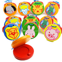 Wholesale animal instrument resale online - Baby Wooden Sound Board Percussion Orff Instruments Animal Wooden Educational toys Perception of music toys for kids C4133