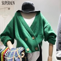 moda mujer doble botonadura abrigo coreano al por mayor-