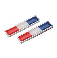 наклейки для автомобилей оптовых-Французский флаг стайлинга автомобилей сторон наклейки серии новая пара металлическая этикетка 3D наклейки автомобиля авто металл эмблема значок наклейки автомобиля