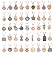 Wholesale Tin Box Ball - Pregnancy Ball Love Wish Beads Cages Angel Bola Magic Box Hollow pearl charm locket Pendant Necklace Long Sweater Chain