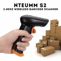 Wholesale Barcode Scanner Cables - NTEUMM S2 2.4GHz Wireless Wifi Cordless Barcode Scanner 120 Scans S Store 5000 Barcodes with 500mAh Li Battery+USB Cable
