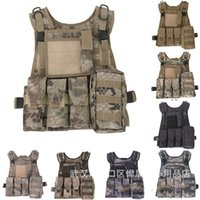 Wholesale vest carriers online - The Multifunctional Bag Outdoor Plate Carrier Vest Army Fan Camouflage Body Nylon Portable Adjuatable Equipment hd Ww