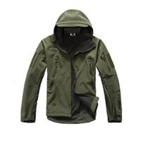 vêtements de chasse achat en gros de-TAD Soft Shell V4.0 Lurker Veste Tactique Militaire Hommes Imperméable Coupe-Vent Camouflage Veste À Capuche Chasse Vêtements Y1893006