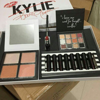 Wholesale makeup lipstick palette - In Stock 2018 Kylie Jenner Kris Momager Weather Collection Bundle Makeup Kit Eye shadow Contour Palettes Liquid Lipsticks Gift Set Free Ship