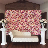 Wholesale Cheap Wall Mounts - JR0108 Free Shipping Hot Sale Cheap Christams  Festive Party  Wedding Stage Artificial Befutiful Silk Flower Wall Backdrop Decorative Flower