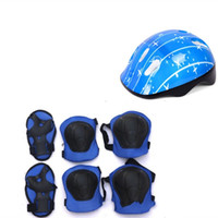 Wholesale clothing bb online – design Children Helmet Protective Clothing Pulley Skating Shoes Boys Girls Cycling Casque Camping Equipment Kneepad Elbow Wrist Guard os bb