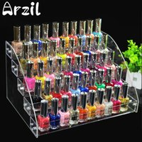 Wholesale Tier Boxes - 5 Tiers Jewelry Display Stand Holder Makeup Cosmetic Clear Acrylic Organizer Lipstick Nail Polish Rack 31X22.3X17cm