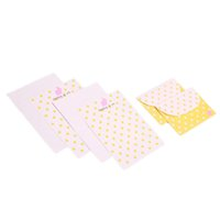 Wholesale stationery manufacturers for sale - 6pcs set Korean Stationery Lace Dot Paper Envelope Set Custom Stationery Manufacturers Color Random