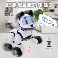 robôs do gato venda por atacado-Youdi Controle de Voz Do Gato Do Cão Robô Inteligente Cão Eletrônico Gato de Controle de Voz Pet Programa Dança Walk Robotic Pets Controle de Voz Brinquedo Do Cão