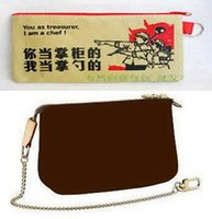 Wholesale product bags resale online - Brown Flower MO MINI POCHETTE ACCESSOIRES M58009 or COTTON BAG Customer Designate Product