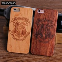 ingrosso iphone di potter-Harry Potter Hogwarts Pattern Design Real Wood Cover per iPhone 7 6 6S 8 Plus 5S SE X XS Max SAMSUNG S8 S9 plus