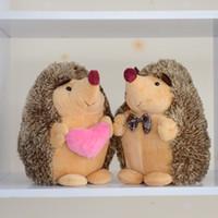schöne liebhaber baby großhandel-2X Gefüllte Igel Plüsch Floppy Animal Heirloom Collection