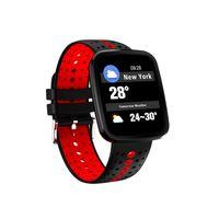 ingrosso battono bande-SOVO V6 Monitor della frequenza cardiaca Blood Pressure 1.3 pollici a colori Smart Bracelet Bluetooth Smart band SMS Ricorda beat fitbit Ionics