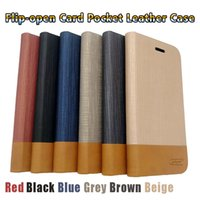 Wholesale opening iphone case - Phone Case Clamshell Leather Wallet PU Flip-open Cell phone cover for iphone X 8 7 6 6S Plus SAMSUNG S9 S8 Plus HAWEI