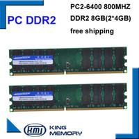Wholesale ram works - desktop 2 KEMBONA hottest RAM DESKTOP 2 8GB 800Mhz (KIT of 2x4gb) ddr2 800D2N6 4G PC2-6400 work for A-M-D motherboard