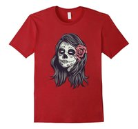 T-SHIRT UOMO TATTOO OLD SCHOOL MEXICAN SKULL ROCK PUNK WHY SO VINTAGE DK0209A