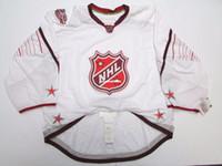 изготовленные на заказ nhl jerseys оптовых-Дешевые пользовательские 2011 НХЛ все звезды Игры аутентичные белый край Джерси вратарь вырезать 60 мужские сшитые персонализированные трикотажные изделия хоккея