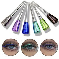 Wholesale colorful eye make up - New Brand Colorful Eye Liner Cosmetics Waterproof Long Lasting Pigment Blue Silver Liquid Make Up Color Eyeliner