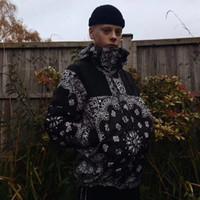 kadın parka markaları toptan satış-THENF X KUTU LOGO Marka BANDANA DAĞ PARKA Ceketler Moda Erkek Kadın Çift Giyim Su Geçirmez Hip Hop Yüksek Sokak Ceket HFJK035