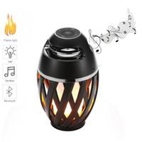 Wholesale floor stand lamps - 2018 Innovative speaker Flame Atmosphere Lamp bluetooth speaker Stereo Night Lamp Portable Outdoor Wireless bluetooth speakers
