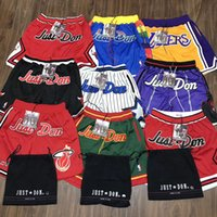Wholesale Drawstring Top - Just Don Basketball Short Pants Men Fashion Top Quality Basketball Team 21 Colors New Arrives Pants HFLSDK007