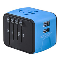 Wholesale iphone international for sale - 2018 Universal Travel Adapter All in one International Travel Charger A Dual USB Worldwide Power Adapter Plug Wall Charger US UK EU AU