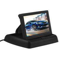video panelleri toptan satış-4.3 inç Araba Video Oynatıcı HD Katlanabilir Araba Monitörler TFT LCD Ekran Dikiz Monitör Ekran Dijital Panel Renk Araba Dikiz