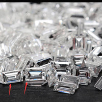 муассанит блестящий оптовых-Изумрудный багет огранки бриллиант 5шт 1.5x3mm DF цвет Moissanite свободный камень ВВС отлично вырезать класс тест положительный лаборатории Алмаз