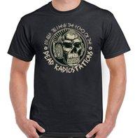 monos de roca al por mayor-Estaciones de radio muertas Camiseta de música para hombre Punk Rock DJ Monkey Ape Skull