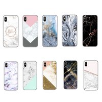 Wholesale grass art resale online - Art Glossy Granite Marble Soft TPU Phone Case Cover For iPhone XS Max XR X Plus Samsung Note9 A8 A7 OPP Bag Aicoo